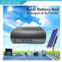 portable solar power generator battery with 20W solar panel for cctv dvr car alarms