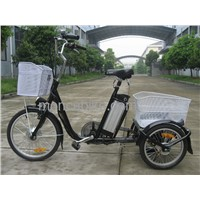 Attractive E-tricycle with great shopping basket