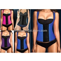 Hot Selling Latex Waist Training Corsets Sexy Lingerie Sport Girdle Steel Boned Corselet Bustiers