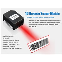 LV1000R barcode scanner with built in pos printer