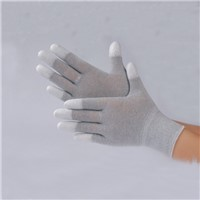 ESD Carbon PU Top Fit Gloves Antistatic Gloves Safety Glove Cotton Gloves