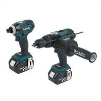 Makita DK18000 18V Li-Ion LXT Twin Pack Combi Drill & Impact Driver