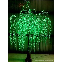 green outdoor led artificial tree lighting led weeping willow tree