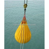 35MT proof load water bags heavy lift crane