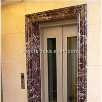 Red marble door frame