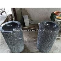 Black Marquina Pedestal Sink, Nero Marguina Marble Pedestal Sink,Freestanding Basin