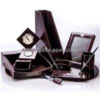 High Quality PU Leather Desk Sets