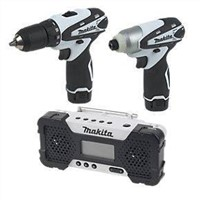 Makita DK1492 10.8V Triple Pack Drill Driver, Impact Driver & Radio Power Tool