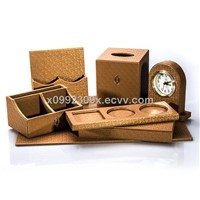 Top Level Classical PU Leather Desk Sets