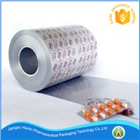 printed treatment aluminum blister foil for pills and capsules packaging