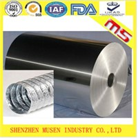Raw material aluminum foil for flexible tube