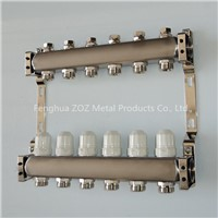 Stainless steel manifold with integrated balancing valves