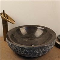 Blue Stone Sink,Blue Stone Vessel Sink with Natural Outside