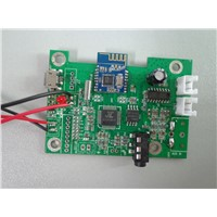 2*3W bluetooth amplifier flat board work with 3.7V battery