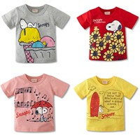 Custom kid clothing cotton printed t shirt in Guangzhou Factory