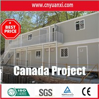 modular 20ft container house used for site office in canada