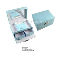 light blue jewelry packaging box (B0037)