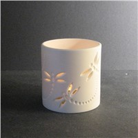 Dragonfly Ceramic Candle holders, tea light holders