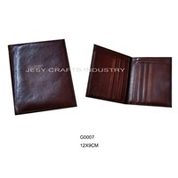 brown leather wallet(G0007)