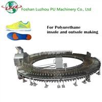 PU shoe making machine, shoe sole making machine, shoe sole PU pouring molding machine