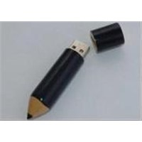 Pencil style wooden USB flash disk