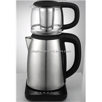 Hot Sell Stainless Steel 2.0 L kettle with glass tea pot(Model No.: TM2001TS)