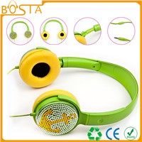 Fancy cool crystal strong bass sound headset