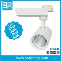 LED track light, COB tracklight spotlight, 30W 40W COB Ra>90