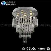 hot sale modern crystal LED pendant lamp round glass chandelier