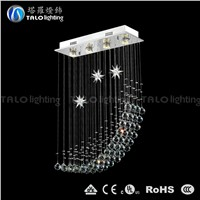 modern star and moon shape crystal chandeliers for dining room LED pendant lamp