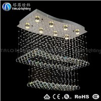 high level modern crystal pendant light LED ceiling lighting for living room