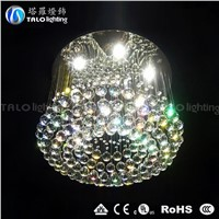 LED modern crystal ceiling lamp round ceiling lighting for home decoration