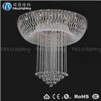 2015 fashion modern round crystal chandelir LED ceiling lamp