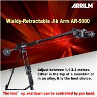 Wieldy mini retractable arm dolly crane camera jib slider for camcorders