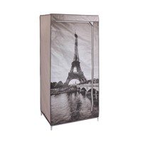 Hot Sale Small Cheap Printed Non-Woven Fabric Wardrobe Closet, Portable Wardrobe