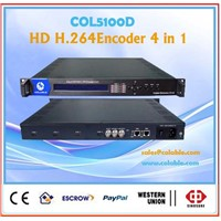 catv equipment digital catv mpeg4 h.264 hd 4 in 1 encoder encoder full hd 1080p encoder COL5100D