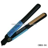 Blue Swarovski Crystal  Hair Flat Iron- Hair Salon Equipment