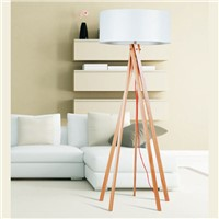 Energy saving handmade wooden floor lamp