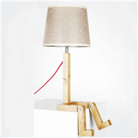 Special design art decoration wooden table lamp