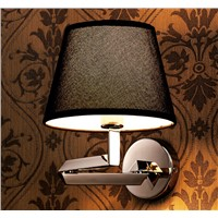 Stainless steel black fashional crystal wall lamps