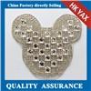 China Supplier rhinestone iron on patches,iron on rhinestone patches