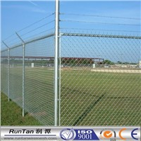 China used chain link fence for sale chainlink fence Airport Security Fence