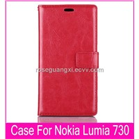 B021 Nokia mobile phone case Leather Case For Nokia Lumia 730 cell phone case Cell Phone Accessories