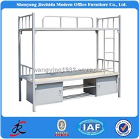 Bedroom Furniture Adult Heavy Duty Hostels Army School Metal Steel Bunk Bed with Lockers