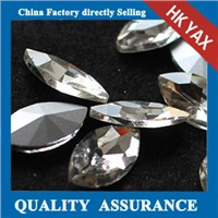 China Supplier Point back crystal,wholesale pointback glass crystal