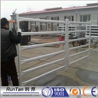 high quality Oval Rails horse yards Livestock Stockyard Fence Panels