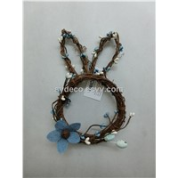 rabbit wreath, bunny wreath, easter wreath, wreath (15SG15141)