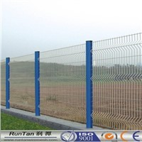 Powder Coated Garden fence/ Curved Welded Mesh Fence panel