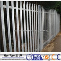 Palisade angle bar fence/ steel picket bar fence