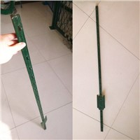 green metal t bar fence post/ t post with spade
